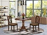 East West Furniture DLCL3-MAH-C 3-Pc Wood Set Mahogany Finish-Two 9-inch Drops...