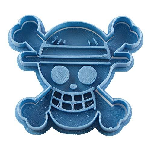 Cuticuter One Piece Cortador de Galletas, Azul, 8x7x1.5 cm