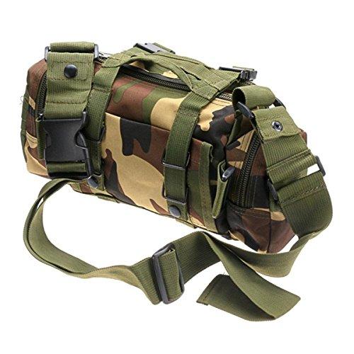 ruifu tactique Molle sac de déploiement Pochette Épaule Bum poche Hip Taille d'Assaut Militaire Appareil photo Sacs bandoulière, Jungle Camouflage