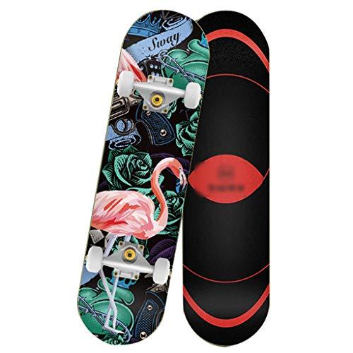 Skateboarden Spezieller Rucksack Spezielles Doppelt Gedrehtes Kurzes Board Für Teenager Und Anfänger Doppelseitiges Farbiges Sandbild, Aluminiumhalterung Ist Stabiler (Color : C, Size : 80 * 20.5cm)
