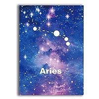 Xuetaozz 星座ゾディアックポスターとプリントウォールアートキャンバス絵画壁の写真星座アートプリント装飾-40x60cmフレームなし