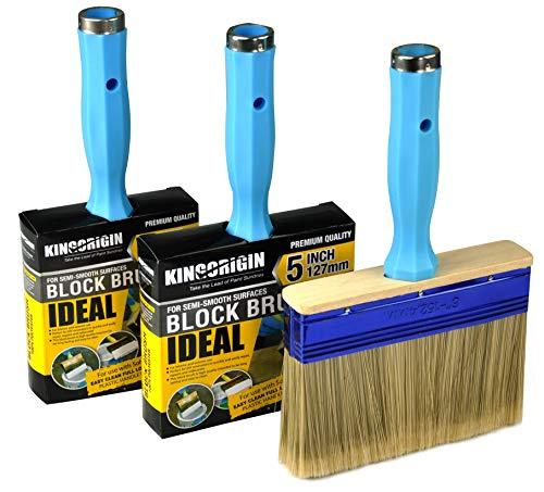 KingOrigin 3 Pack (4,5,6inch) Heavy Duty Professional Stain Brush,Paint Brush,Paint Brushes,Double Thick 1.2 inch,Fence Brush,Paint Brush for Walls,Painters Paint Brush