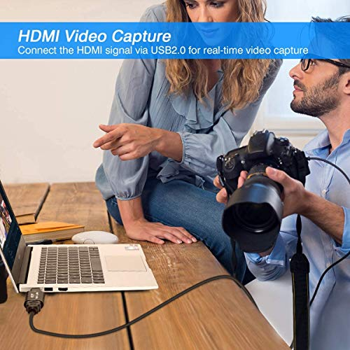 HDMI Video Capture Card, 4K HDMI to USB Capture Card Full HD 1080P 30fps, Record via DSLR, Camcorder, Action Cam for Live Streaming, Compatible with Nintendo Switch, PS4, Xbox One, PC