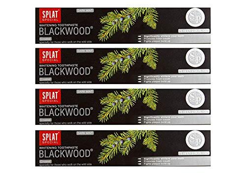 4X Splat Blackwood Libre Fluoruro Carbón Pasta de Dientes Blutstillend y Entzündungshemmend