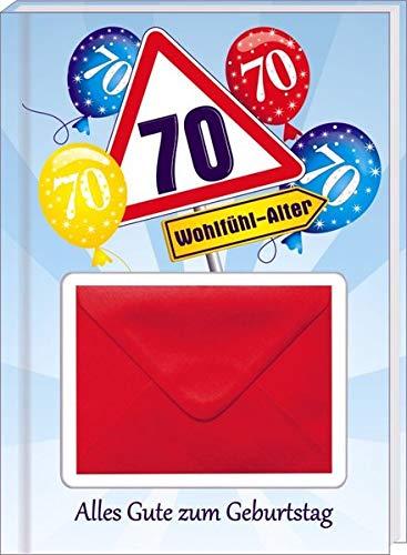 AV Andrea Verlag Alles Gute zum 70. Geburtstag Geldgeschenk Buch Piccolo mit Blattgold Kräuterlikör Schnäpse Zollstock Geldgeschenk für Männer und Frauen als Geburtstagsgeschenk (Alles Gute 70)