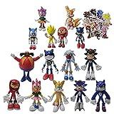 XINKO Juguetes Sonic 15 unids/Set Juguete de Peluche sónico Amy Rose Sonic-Shadow-Silver The Hedgeho...