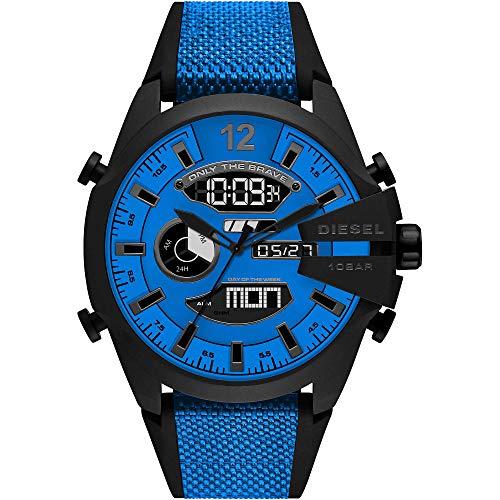 Diesel Reloj Analógico para de los Hombres de Digital con Correa en Nailon DZ4550