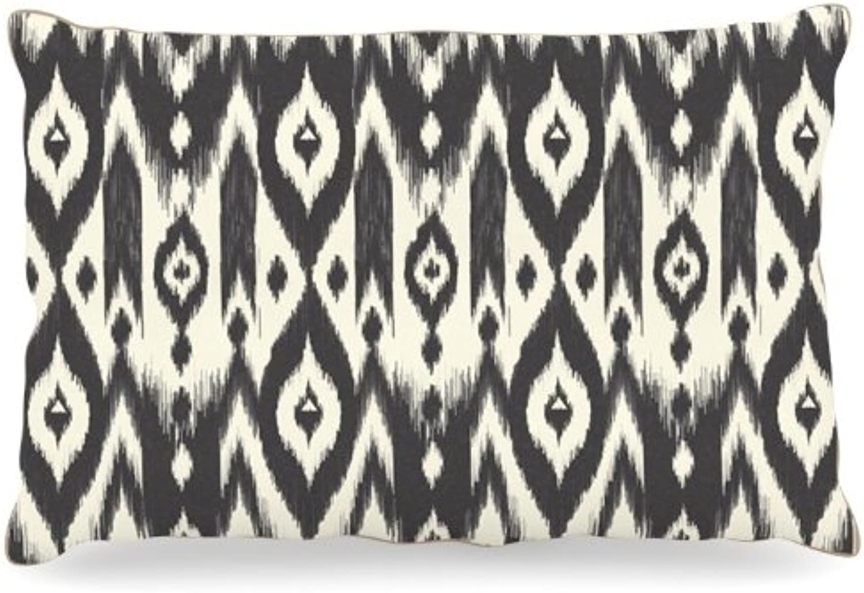 Kess InHouse Amanda Lane Black Cream Tribal Ikat  Dog Bed, 50 by 60Inch, Dark Tan