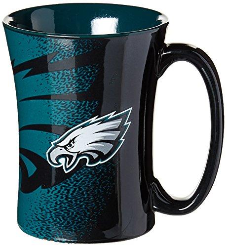 NFL Philadelphia Eagles Mokka-Tasse, 400 ml, Schwarz