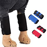 Emoly Pet Knee Pads Dog Support Brace for Dog Front Leg Braces Pet Knee Pads Dog Elbow Protector Help with Injuries Sprains (1Pair)-L, Black