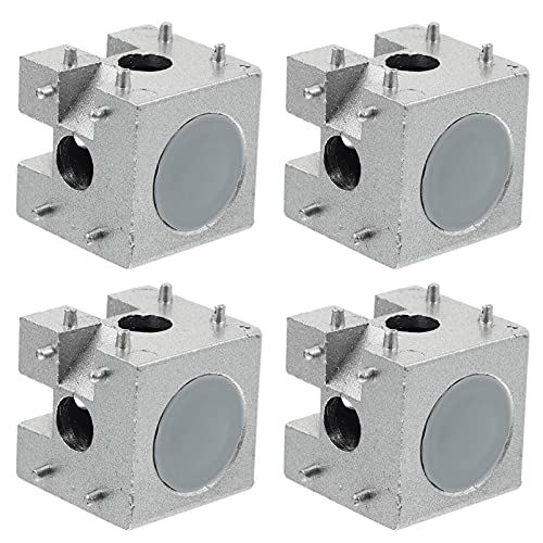 iplusmile 4pcs Aluminum Corner Cube European Standard Right Angle Connector (Silver)