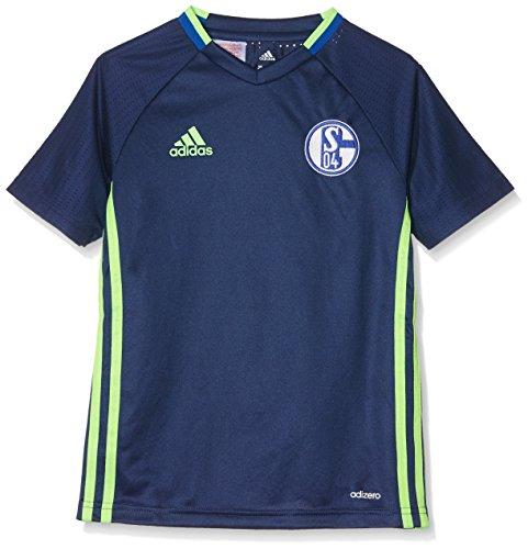 adidas Kinder Schalke 04 Trikot, Dark Blue/Solar Green, 140