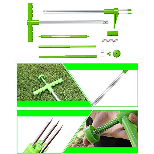 YTYL Manual Weeders Three-Claw Long Handled Lightweight Outdoor Stand Up Garden Puller Root Remover+Shovel Manual Weeder+Gardening Latex Gloves