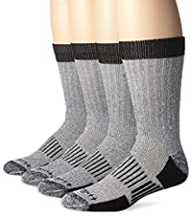 FastDry technology wicks away sweat and fights odors Full cushion footbed for additional comfort and performance Wool blend naturally regulates temperature to keep feet warm in the winter Reinforced yarn in the heel and toe for increased durability E...