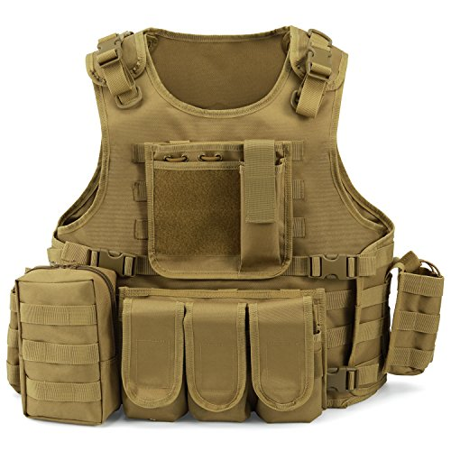 Gonex Gilet Tactique Militaire Gilet de Combat...