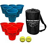 Bucket Ball - Beach Edition Starter Pack - Ultimate Beach, Pool, Yard, Camping, Tailgate, BBQ, Lawn, Water, Indoor, Outdoor Game – Best Gift Toy for Adults, Boys, Girls, Teens, Family
