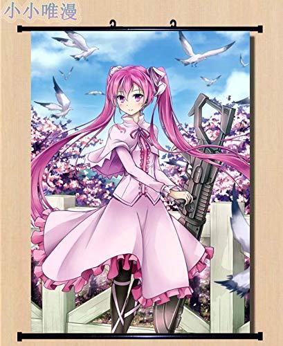 Imágenes Decorativas japonesas Anime Akame Ga Kill! Personaje Sexy Girl Chelsea & Sheele & Mine Decoración para el hogar Póster de Desplazamiento de Pared 40x60cm 6