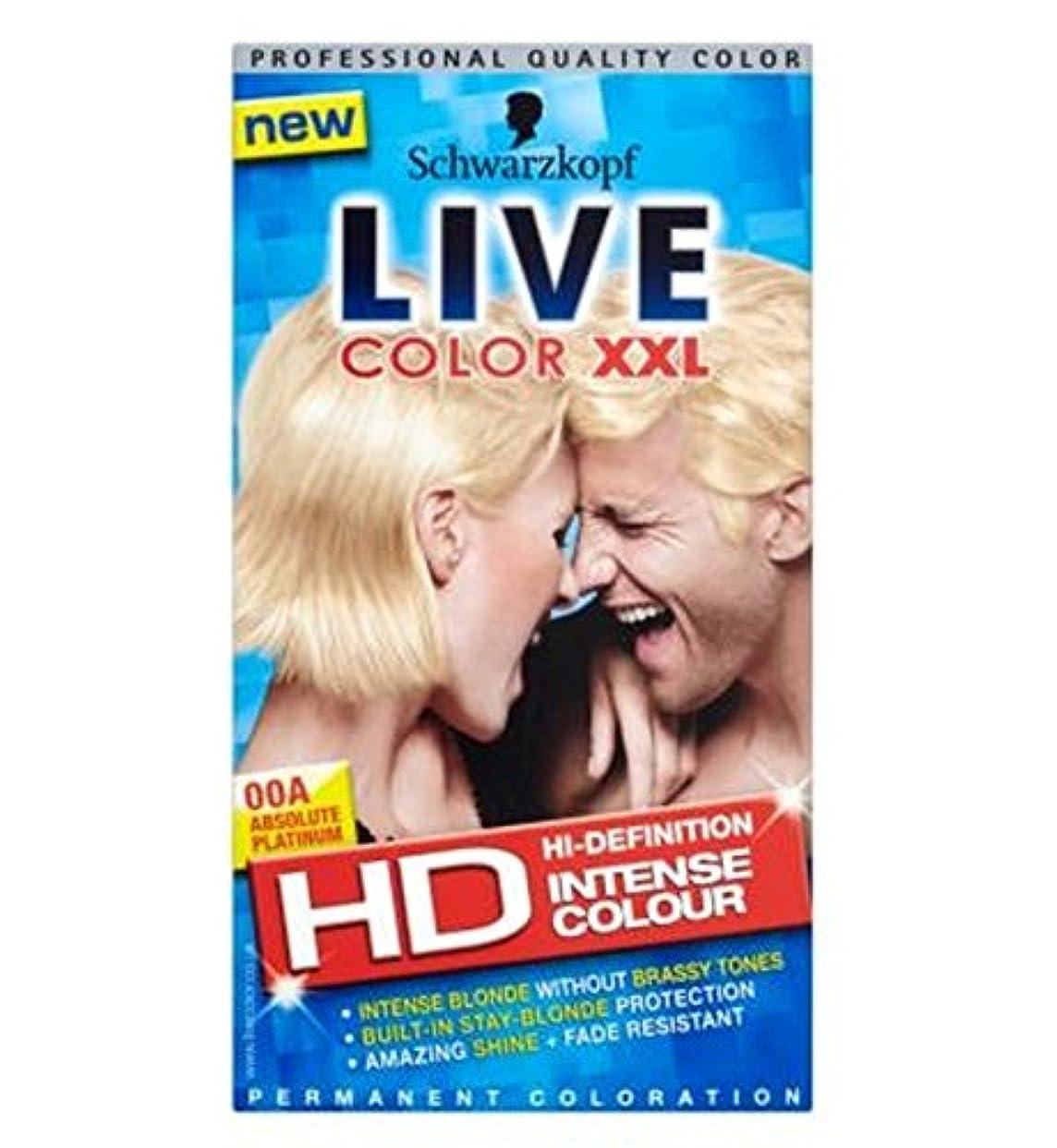 生命体協同鉛シュワルツコフライブカラーXxlハイビジョン00A絶対プラチナ永久ブロンドの髪の染料 (Schwarzkopf) (x2) - Schwarzkopf LIVE Color XXL HD 00A Absolute Platinum Permanent Blonde Hair Dye (Pack of 2) [並行輸入品]