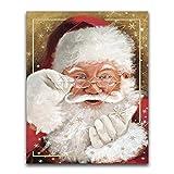 JXMK DIY Pintura Navidad de Perros y Gatos Sin Marco Pintura al óleo Pintura acrílica DIY Set de Pintura al óleo de Regalo 30x40cm