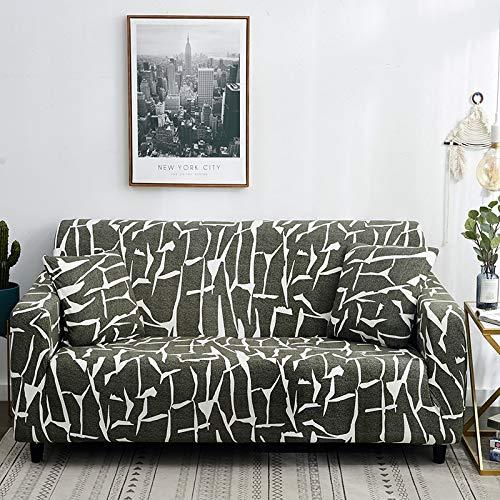 PPOS Fundas de sofá con Estampado de Cuerdas para Sala de Estar Fundas elásticas elásticas para sofá de Esquina seccionales A1 1 Asiento 90-140cm-1pc