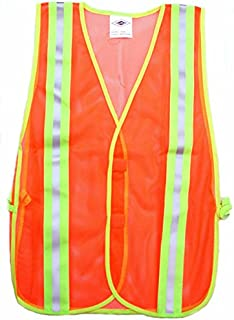 Carolina Glove & Safety 039-40003 Fluorescent Orange Safety Mesh Vest, 2