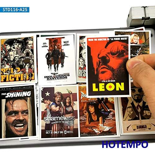 BLOUR 25pcs Classic Movie Poster Aufkleber Aufkleber Pulp Fiction Godfather für Handy Laptop Koffer Skateboard Fashion Aufkleber