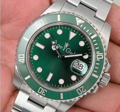 LESHARED Mannen Automatische Mechanische Horloges Zilver Zwart Goud Blauw Keramische Bezel Polshorloge Aaa+ Kwaliteit Kristal Saffier