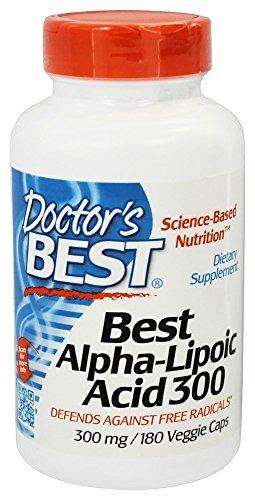 Doctor's Best Alpha-Lipoic Acid 300, 300 mg, 180 Veggie Caps