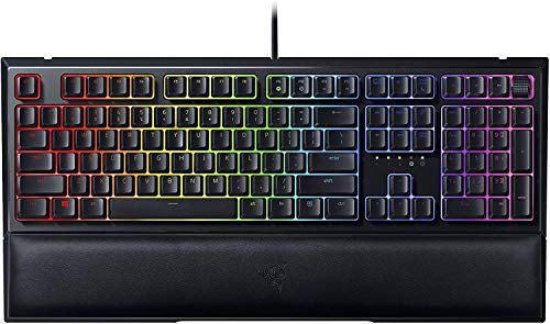 Razer Ornata V2 Gaming Keyboard- Detachable Plush Wrist Rest ((Renewed)