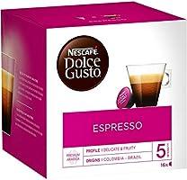Nescafé Dolce Gusto Espresso - Café - 48 Capsules (Lot de 3 boîtes x 16)