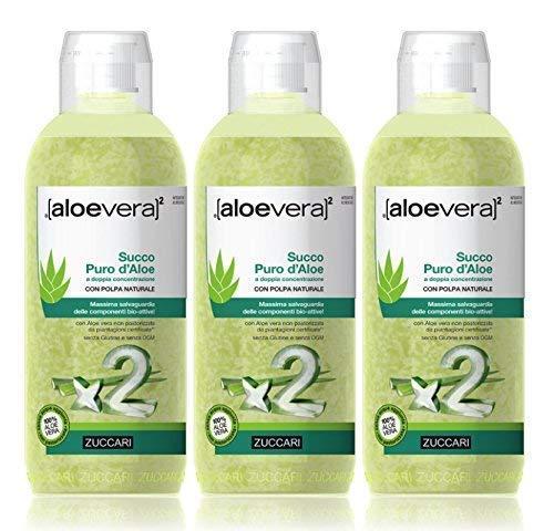 Zuccari Succo D Aloe - 3 Pezzi da 1 L, Totale: 3 L
