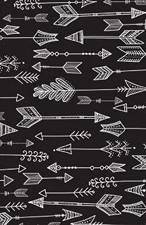 Bullet Journal: Black Boho Arrows Notebook Dotted Grid, (5.5 x 8.5)