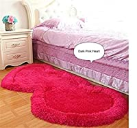 Creative double heart shaped rug, well decorating your room with love and romantic feeling Ultra-plush fabric encourages your bare feet to indulge in luxury inspired by timeless contemporary designs crafted with the softest polypropylene available Po...