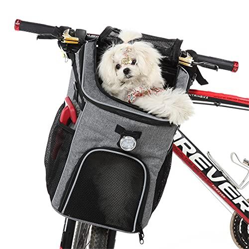 qiyifang Hundefahrradkorb Mit Mehreren Taschen, Hundekorb Für Fahrrad, Tragbares Hunderucksack-Geschirr Atmungsaktiv Für Haustiere, Um Glücklich Mit Ihren Hunden Und Katzen Zu Reisen