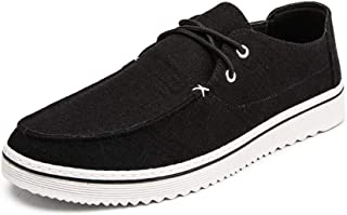 Shoes Comfortable Fashion Sneakers for Men Sports Skater Shoes Casual Low Top Comfortable Cloth Walking Shoes Lace Up Round Toe Durable Abrasion Resistant Fashion (Color : Black, Size : 8 UK)