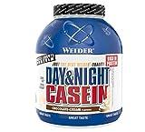 Weider Day & Night Casein Chocolate 1,8 kg. Fórmula protéica a base de puro caseinato cálcico. Efecto saciante
