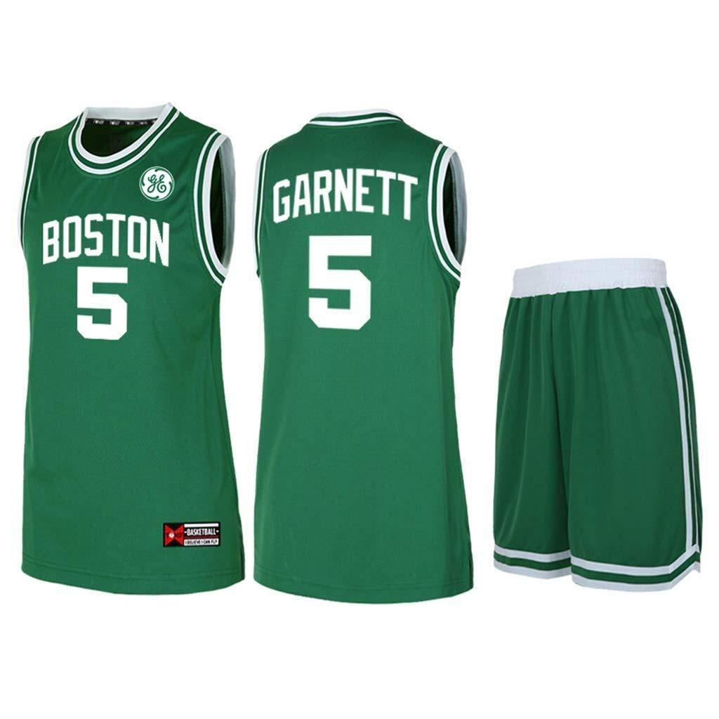 Conjunto de Baloncesto for Hombre The Boston Celtics NBA Basketball Shirt No. 5 Vest Vest Uniforme de práctica Uniforme sin Mangas Baloncesto Camisa y Pantalones Cortos XIKJUK (Size : XXXXL): Amazon.es: Deportes