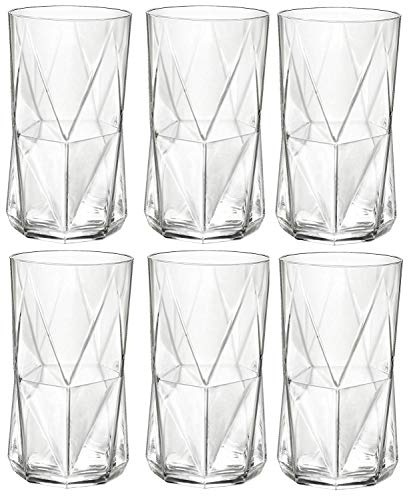 Bormioli Rocco Cassiopea Tumbler Glasses - 480ml (16.25oz) - Set of 6 by Bormioli Rocco