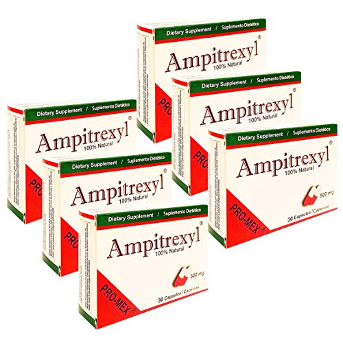 Ampitrexyl 500mg, Size: 30 Capsules x 6 Pack = 180 Capsules Total by Pro-Mex LLC