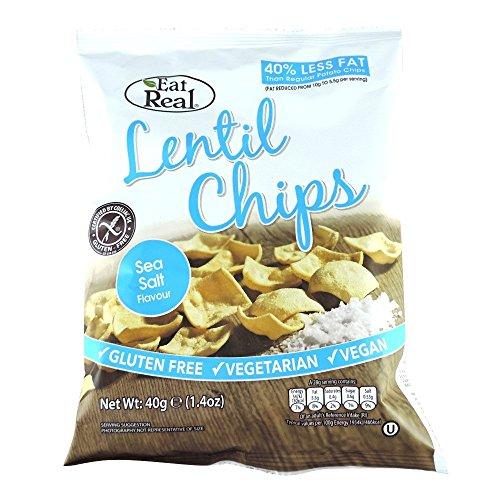 Cofresh Eat Real Lentil Chips Sea Salt 40 g (order 20 for trade outer)