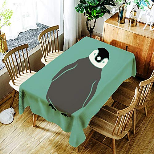 XXDD Mantel de Panda Enojado Creativo de Dibujos Animados Animal Gato patrón Mantel cómodo Impermeable Cubierta de Mantel A11 135x135cm