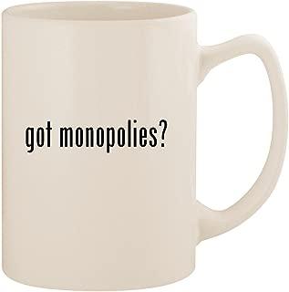 got monopolies? - White 14oz Ceramic Statesman Coffee Mug Cup
