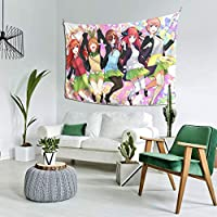 自然風景アート 五等分の花嫁 ごとうぶんのはなよめ 多機能 タペストリー 壁掛けクラフト おしゃれ飾り ウォールアート 布ポスター カーテン 装飾用品 152cm*102cm