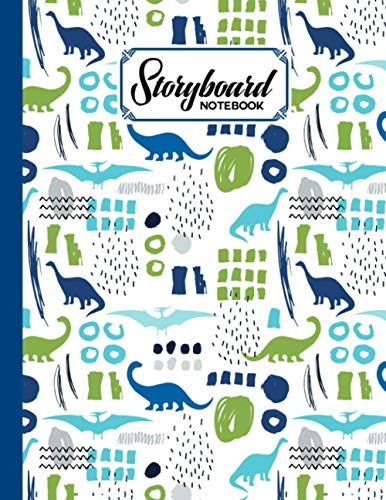 Storyboard Notebook: dinosaur era Storyboard Notebook, Cinema Notebooks for Cinema Artists / Notebook Sketchbook Template Panel Pages for Storytelling & Layouts: 120 Pages with Size 8.5