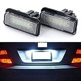 2pcs blanca 6000K Licencia 18-SMD LED placa 12V enciende la lámpara Asambleas Set for W203 / W211 Clase E Benz C-Class/Clase CLS W219 ydieon
