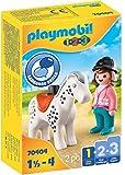 PLAYMOBIL 1.2.3 70404 Jinete con Caballo, De 1,5 a 4 años