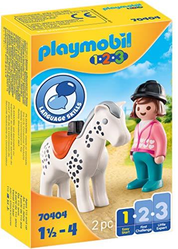 PLAYMOBIL 1.2.3 70404 Jinete con Caballo