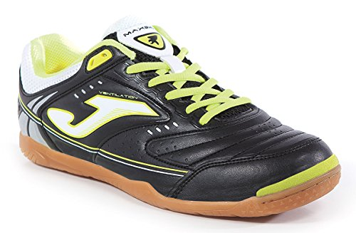 Zapatillas JOMA Maxima 501 Black-Green Fluor Indoor (41, Negro)