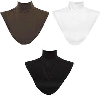 Baoblaze 3 Pieces Women Mock Turtleneck Fake Collar Cotton Winter Dickey Wrap Half Top Faux Collar
