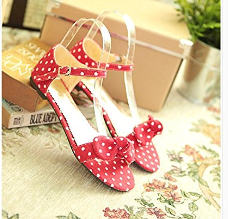 WHW Women's Transparent Heel Wedges Heels Peep Toe Sandals Heels Outdoor Sandals,42,red